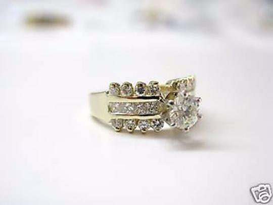 Other 14Kt Round Engagement Solitaire with Accents Diamond Yellow Gold Ring Image 1