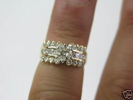 Other 14Kt Round Engagement Solitaire with Accents Diamond Yellow Gold Ring Image 4