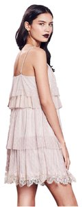 LC Lauren Conrad Floral Ruffle Ultra Mini Lace Textured Dress