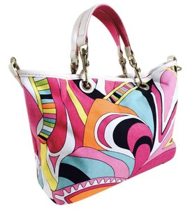 c34abe64b19c Other Strada Canvas Multicolor Satchel in Pink, White, Turquoise, Orange,  Yellow,