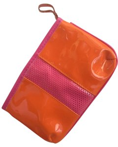 Clinique Elizabeth Arden Makeup Pouch Makeup Orange with pink Travel Bag