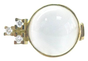 Other 18Kt Moonstone Diamond Yellow Gold Jewelry Ring 10.15Ct