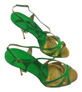 Christian Louboutin Patent Leather Green Sandals