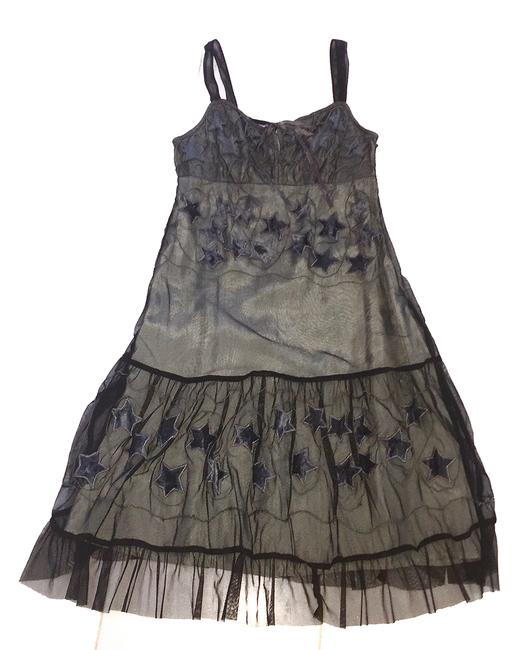 Free People short dress GREY Embroidered Short Length Sun on Tradesy Image 2
