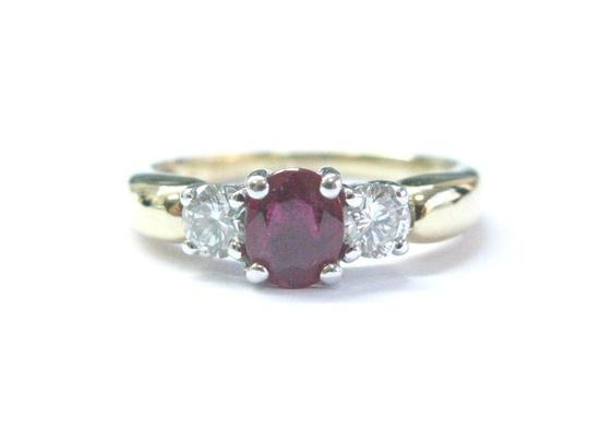 Preload https://img-static.tradesy.com/item/21107505/red-18kt-gem-ruby-diamond-yellow-gold-3-stone-103ct-ring-0-0-540-540.jpg