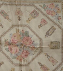 Laura Ashley VINTAGE Laura Ashley Perfume Roses SCARF Italy