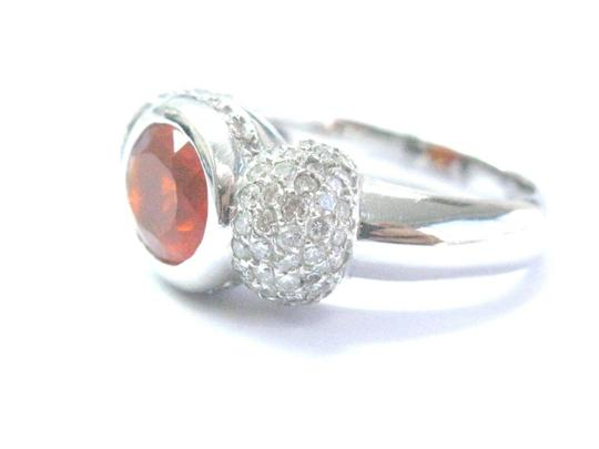 Other Fine Fire Opal Diamond White Gold Jewelry Ring 14Kt 4.20Ct Image 1