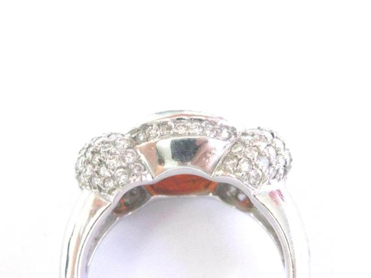 Other Fine Fire Opal Diamond White Gold Jewelry Ring 14Kt 4.20Ct Image 2