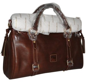 Dooney & Bourke Chestnut Florentine Leather Med/large Satchel in Brown