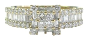 Other 18Kt Princess Round & Baguette Diamond Yellow Gold Ring 1.05Ct