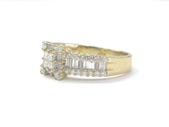 Other 18Kt Princess Round & Baguette Diamond Yellow Gold Ring 1.05Ct Image 1
