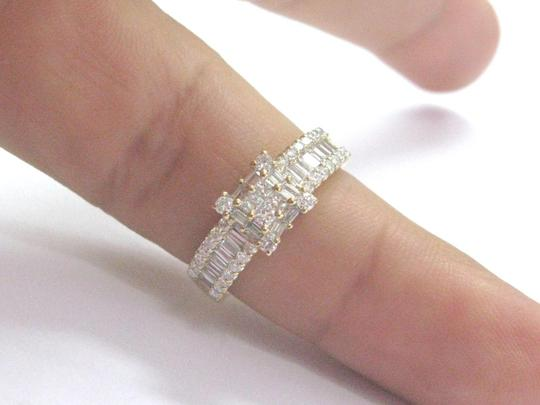 Other 18Kt Princess Round & Baguette Diamond Yellow Gold Ring 1.05Ct Image 5