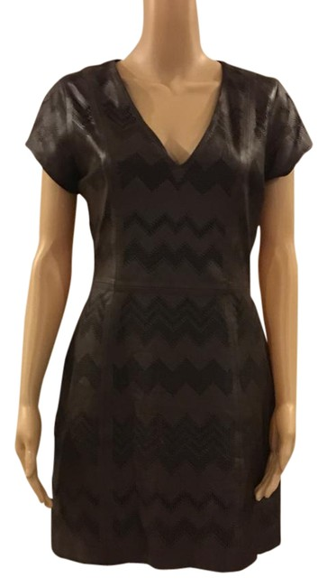 Preload https://img-static.tradesy.com/item/21107653/parker-brown-real-leather-short-casual-dress-size-4-s-0-1-650-650.jpg