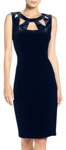 Eliza J Velvet Eliza Blue Blue Velvet Date Night Dress