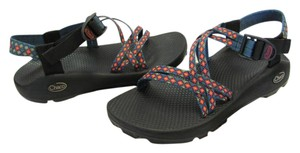 Chaco Size 9.00 M Very Good Condition Black, Blue, Red, Sandals