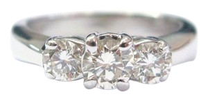 Other Fine Round Cut Diamond 3-Stone Engagement White Gold Ring .96CT