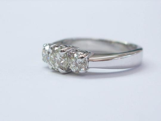 Other Fine Round Cut Diamond 3-Stone Engagement White Gold Ring .96CT Image 1