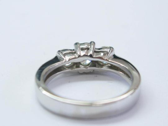Other Fine Round Cut Diamond 3-Stone Engagement White Gold Ring .96CT Image 2
