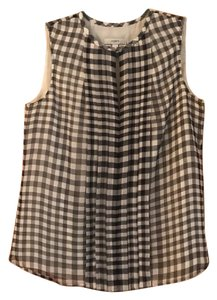 J.Crew Gingham Top Black and White