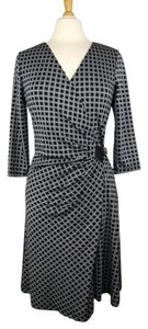 Max Studio Faux Wrap Ruched Career Work Dress