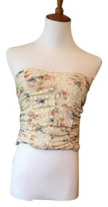 Pins and Needles Floral Crop Lace Crop Top beige