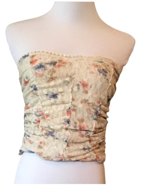 Pins and Needles Floral Crop Lace Crop Top beige Image 2