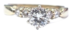 Other Fine Round Cut Diamond Solitaire With Accent Engagement Ring 5-Stone 1