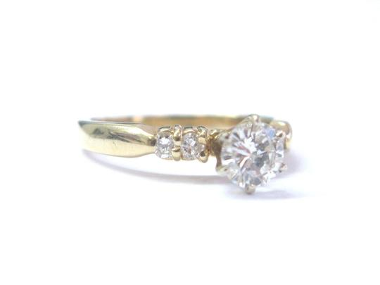 Other Fine Round Cut Diamond Solitaire With Accent Engagement Ring 5-Stone 1 Image 1