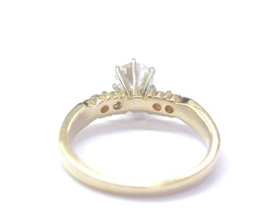 Other Fine Round Cut Diamond Solitaire With Accent Engagement Ring 5-Stone 1 Image 2