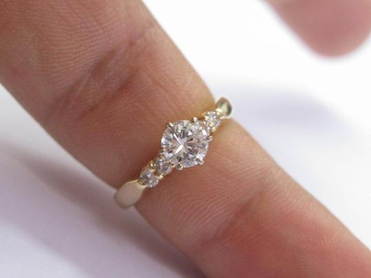 Other Fine Round Cut Diamond Solitaire With Accent Engagement Ring 5-Stone 1 Image 5