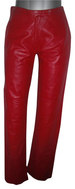 Item - Red Genuine Leather Rockstar Pants Size 4 (S, 27)