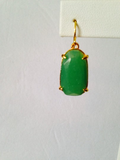 Ralph Lauren Faceted Jade Gemstone Gold Drop Necklace