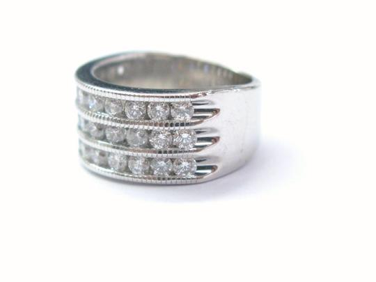 Other Fine Round Cut Diamond 4-Row Band Ring WG 1.65CT Image 1
