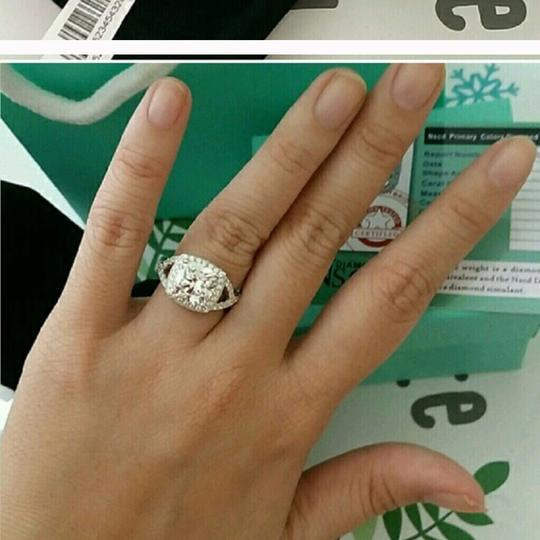 Nscd 3.85 Cushion Diamond Proposal Engagement All Size Ring Image 1