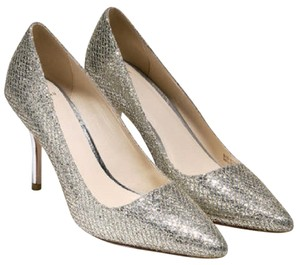 Cole Haan Evening Party Metallic Silver Glitter Pumps