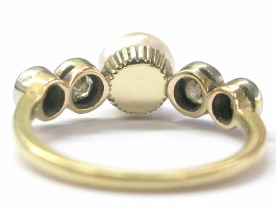 Other Fine Old European Cut Diamond Pearl Anniversary Ring .70CT 7mm Image 2