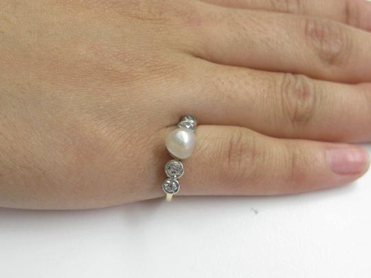 Other Fine Old European Cut Diamond Pearl Anniversary Ring .70CT 7mm Image 4