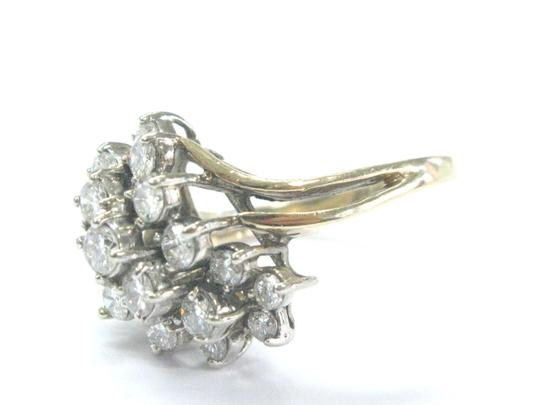 Other Fine Round Cut Diamond Cluster Yellow Gold Jewelry Ring 1.50CT Image 1