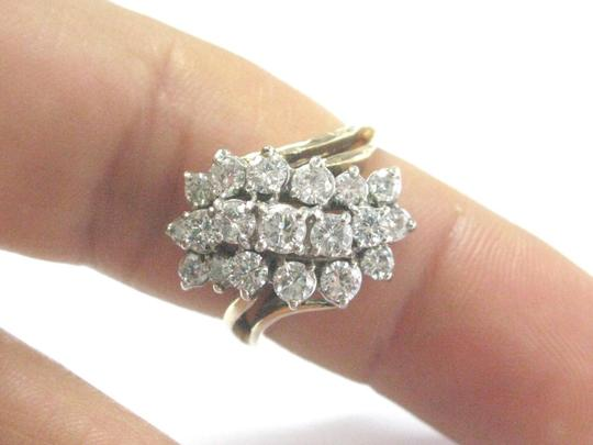 Other Fine Round Cut Diamond Cluster Yellow Gold Jewelry Ring 1.50CT Image 2