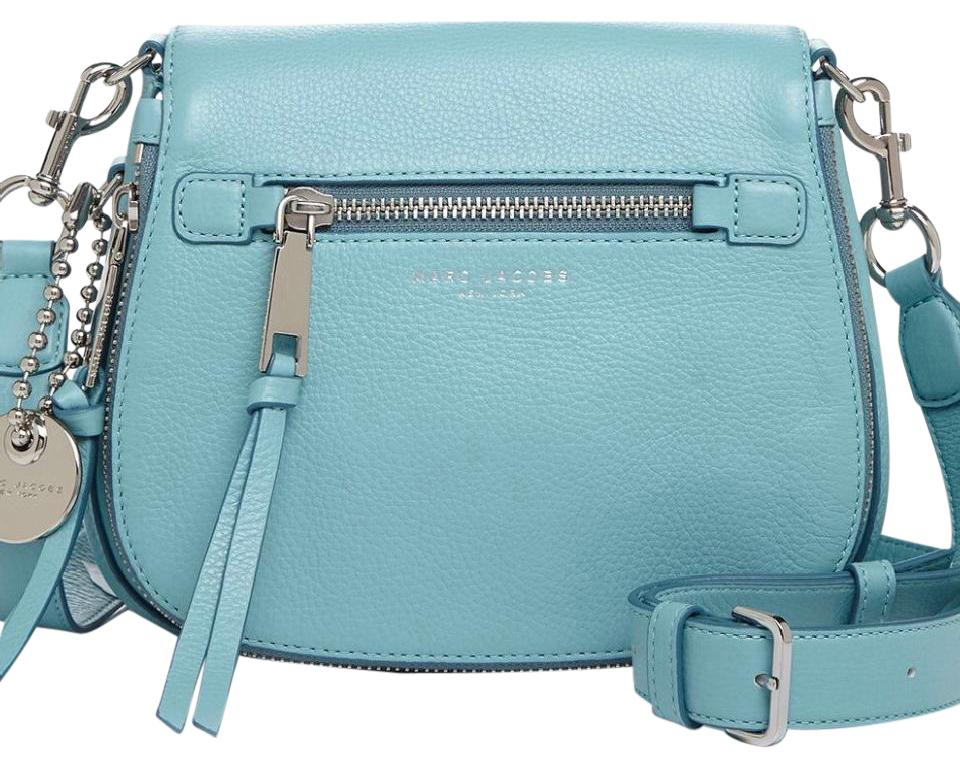 111784730 Marc Jacobs Recruit Small Nomad Saddle Azure Blue Leather Cross Body ...