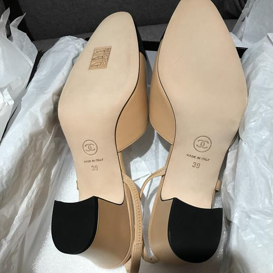 Chanel Slingbacks Two Tone Cc Slingback Size 39 Beige Pumps