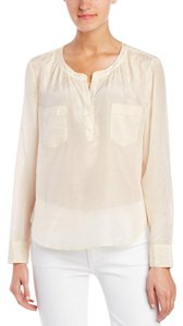 Calypso St. Barth St Silk New With Tags Sheer Top Ivory