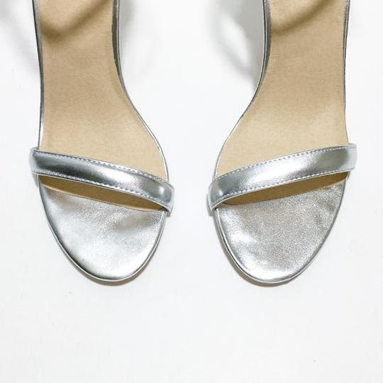 Other Silver, Nude Sandals Image 4