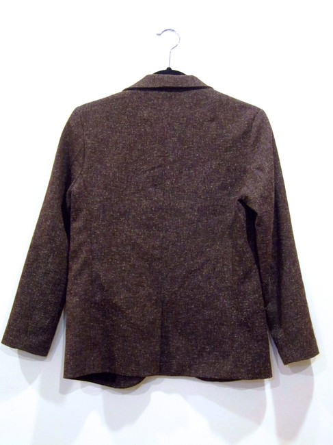 Silence + Noise Marl Open Front Brown Blazer