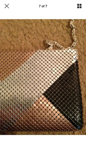 Lulu Townsend Gatsby Retro Party Prom black, silver bronze Clutch Image 5