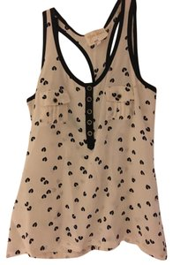 Yumi Kim Silk Tank Black Top White