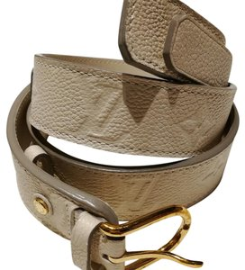 Louis Vuitton Louis Vuitton Double Empreinte Monogram Leather Belt