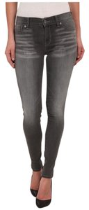 Lucky Brand Distressed Casual Skinny Cotton Denim Skinny Jeans-Distressed