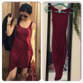 Bar III short dress burgundy red on Tradesy