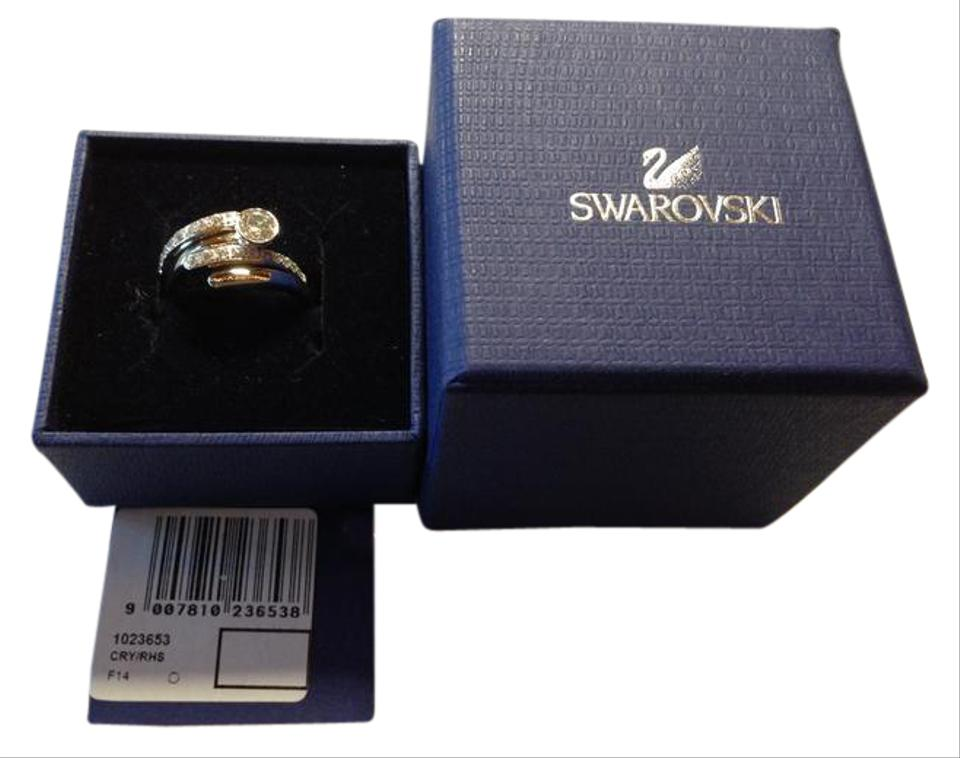 07eaa26d9 Swarovski NWT SWAROVSKI RADIANCE RING SET CRY/MIX Model 1023653 Size 55  Image 0 ...
